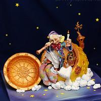 Stargazer. Cake based on the artwork of Scott Gustafson