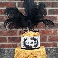 Thoroughly modern Melissa 20's style cake