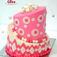 My first topsy turvy cake by Prachi Dhabaldeb