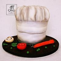 Chef carved cake