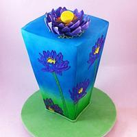 Brush Embroidery Vase