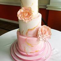 Wedding cake on a plane!
