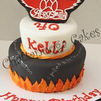 Aerosmith Cake by Sandy Thompson