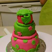 Funky mini cake by Gram's Cookie Jar and Cakes