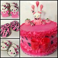 Hello Kitty Pink Zebra cake!