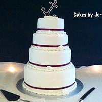 Tied the Knot - Anchor Theme by Cakes by Jo-Anne