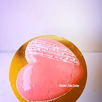 Simple strawberry mousse cake