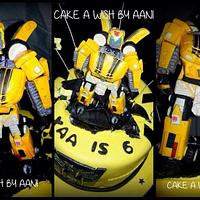 Edible bumble bee cake