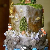 Kodiak Shoreline Cake