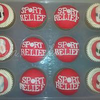 Sport Relief Cupcakes by Jan