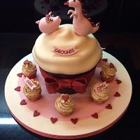 Giant cupcake for a cute couple!