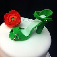 Bridal Shower Shoe Cake by Beau Petit Cupcakes (Candace Chand)