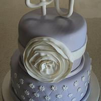 Lavender 40th Cake