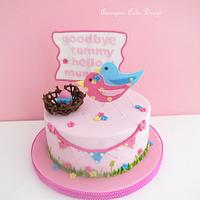 Birdy Baby Shower Cake