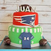 """New England """"Patriot"""" Cake"""