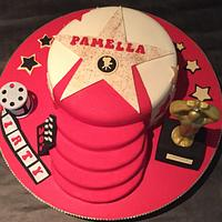 30th Oscar themed birthday cake
