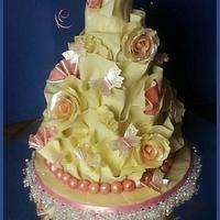 white chocolate cake wrap