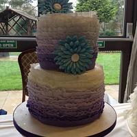 Bright Ruffle Cake