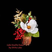 A Christmas Edible Flower arrangement
