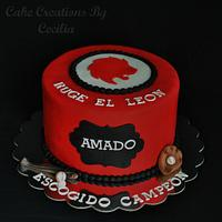 """Escogido"" Baseball Birthday Cake"