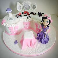 Dressing table cake