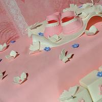 Pink Baby Shower Cake by Esther Williams