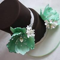 Mint green Fantasy Tulips and filler Flowers