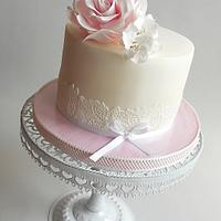 Birthday cake with rose