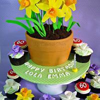 Flower pot cake for Emma by Donna Dolendo