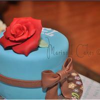 One Red Rose Mini Birthday Cake