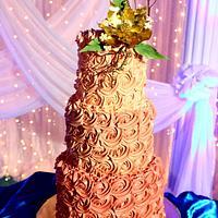 Rossete Buttercream Engagement Cake