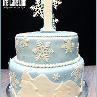 THE WINTER WONDERLAND 1st BIRTHDAY CAKE