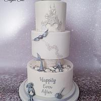 x Magical Kingdom Wedding Cake x