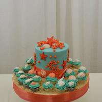 Tiffany Blue and Coral