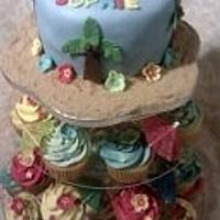 Hawaii themed cake for December birthday!