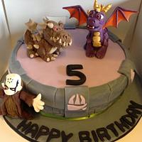 Sky landers cake