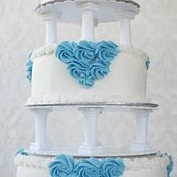 Re-creation of vintage buttercream wedding cake