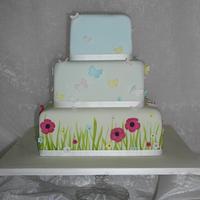 Meadow wedding cake