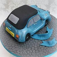 vintage mini car cake