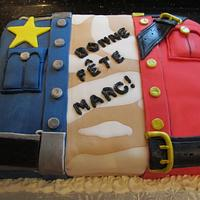 Acadian Flag inspired cake