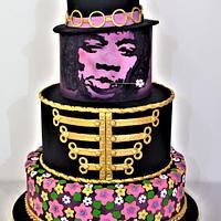 "Jimi Hendrix Purple Haze - "" Gone too soon"" Cake Collaboration"