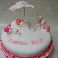 Woodland theme christening cake