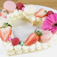 Heart shaped alphabet cake Tutorial