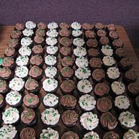 Dark Chocolate whiskey and Irish car bomb cupcakes