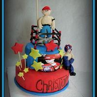john sena  and rey misterio cake by tupsy cakes