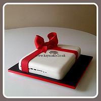 40th Birthday Apple Mac Laptop Cake