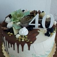 Chocolate,mascarpone and fruit cake