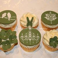 Sage Green Wedding Cupcakes