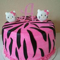 Hello Kitty Zebra Cake