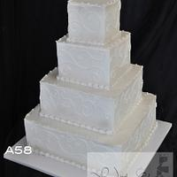 Buttercream Iced Wedding Cakes